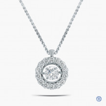 14kt White Gold 0.50ct Maple Leaf Diamond Pendant with Chain