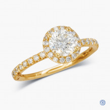 14kt Yellow Gold 0.90ct Maple Leaf Diamond Engagement Ring