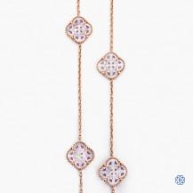 18k rose gold clover necklace