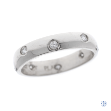 Platinum 0.24ct Diamond Wedding Band