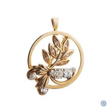 14kt Yellow Gold and Diamond Brooch/Pendant