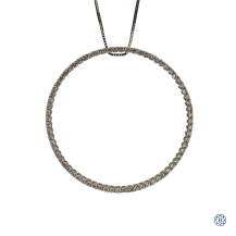 18kt White Gold Diamond Pendant with Chain