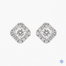 Hearts on Fire 18k white gold 0.63ct diamond earrings