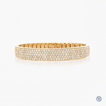 14k Yellow Gold 5.17ct. Diamond Bangle