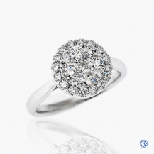 14kt White Gold 1.01ct Halo Round Diamond Engagement Ring