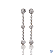 18kt White Gold Drop Diamond Earrings