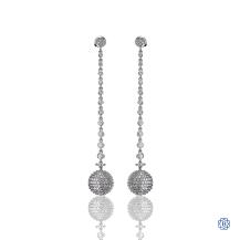 18kt White Gold Diamond Drop Earrings