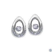 10 Gold Sparkling Diamond Pulse Earrings