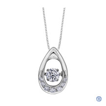 10kt Gold Stunning Diamond Pulse Pendant