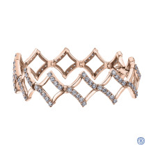 10kt Rose Gold Diamond Bracelet