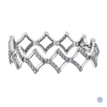 10k white gold 5.00ct diamond bracelet