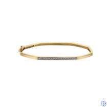 10kt Yellow Gold Octagonal Diamond Bangle