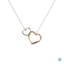 Bella Forever 10kt White and Rose Gold Necklace