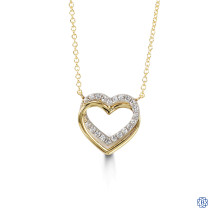 Bella Forever 10kt Yellow and White Gold Cubic Zirconia Pendant