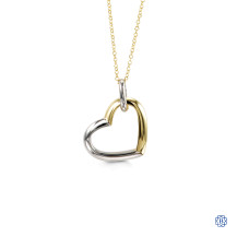Bella Sentiments 10kt White and Yellow Gold Pendant