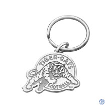 Hamilton Tiger-Cats Stainless Steel & Sterling Silver Keychain