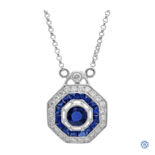 18kt White Gold Diamond and Sapphire Victoria Necklace