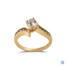 14kt Yellow Gold 0.48ct Solitaire Round diamond Engagement Ring