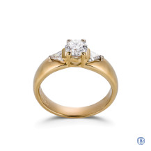 14kt Yellow Gold 0.72ct Solitaire Round Engagement Ring
