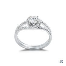 Simon G 18kt white gold and diamond engagement ring