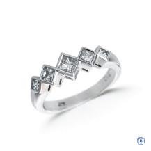 14kt White Gold Princess Cut Diamond Ring
