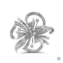 custom made 18kt white gold diamond brooch