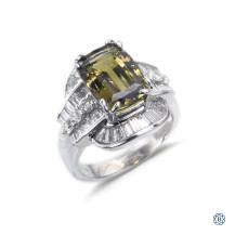 18kt White Gold Alexandrite Diamond Ring
