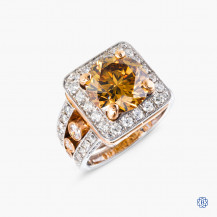 Custom Yellow Diamond Ring