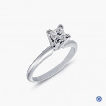 Platinnum 0.50ct Maple Leaf Diamond Engagement Ring