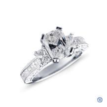 Tacori Classic Crescent Platinum 1.56ct Radiant Cut Diamond Engagement Ring