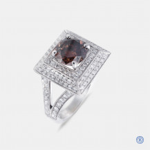 18kt white gold cognac diamond ring