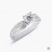 18kt white gold 0.70ct Maple Leaf Diamond Engagement Ring