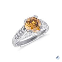 Platinum 2.11ct Fancy Brown Diamond Ring