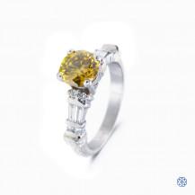 Platinum 1.40ct Fancy Colour Diamond Ring