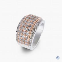 14k white and rose gold custom made diamond ring