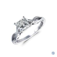 Tacori Sculpted Crescent Platinum 1.00ct Diamond Engagement Ring