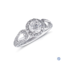 18kt White Gold 0.73ct Maple Leaf Diamond Engagement Ring