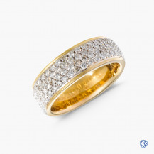 14kt yellow and white gold diamond ring