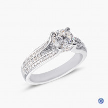Platinum 1.01ct Maple Leaf Diamond Engagement Ring