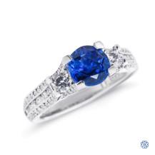Tacori Platinum Sapphire and Diamond Engagement Ring