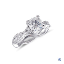 Platinum Tacori Moissanite Engagement Ring