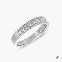18k white gold 0.44ctw Hearts on Fire diamond band