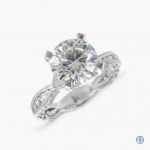Platinum Tacori Moissanite RoyalT Engagement Ring