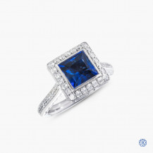 Tacori Starlit 18kt white gold sapphire and diamond engagement ring