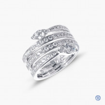 Hearts on Fire 18k white gold and diamond fashion band