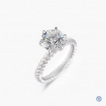 platinum 2.50ct diamond solitaire engagement ring