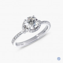 Hearts on Fire 18k white gold 0.74ct diamond engagement ring