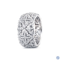 Scott Kay 14k white gold and diamond eternity band
