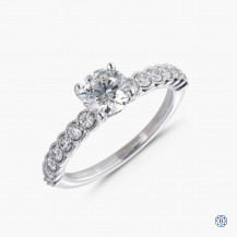 Hearts on Fire platinum 0.76ct diamond engagement ring