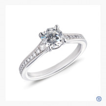 Hearts on Fire platinum 1.09ct diamond engagement ring